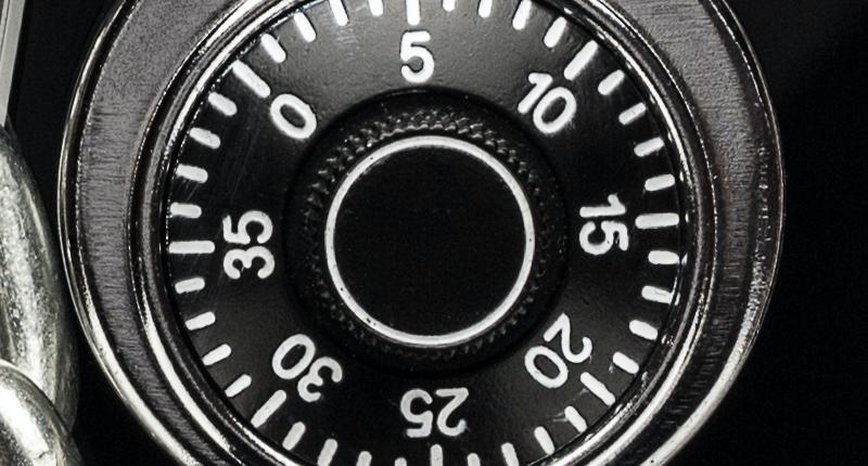 Wandtresor mit mechanischem Zahlenschloss